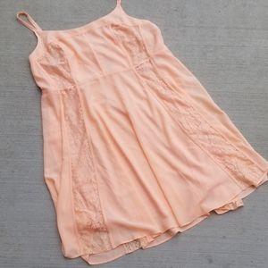 Torrid Coral Lace Inset Georgette Dress Size 24